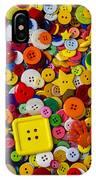 Square Button IPhone Case