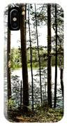 Square North Woods Lake IPhone Case