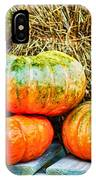 Squatty Orange Pumpkins IPhone Case