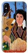 Squaw With Deer IPhone Case