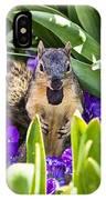 Squirrel In The Botanic Garden IPhone Case