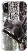 Squirrel On A Stick IPhone Case