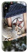 Squirrel On Bird Feeder IPhone Case