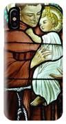St Anthony In Stained Glass IPhone Case