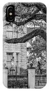 St. Charles Ave. Mansion 2 Bw IPhone Case