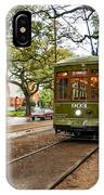 St. Charles Ave. Streetcar In New Orleans IPhone Case
