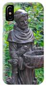 St Francis Of Assisi Garden Statute IPhone Case