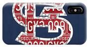 St. Louis Cardinals Baseball Vintage Logo License Plate Art IPhone Case