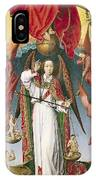 St. Michael Weighing The Souls, From The Last Judgement, C.1445-50 Oil On Panel Detail Of 170072 IPhone Case