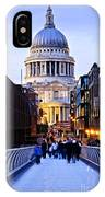 St. Paul's Cathedral London At Dusk IPhone Case