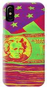 Stack Of Money On American Flag Pop Art IPhone Case