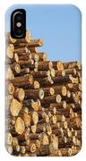 Stacks Of Logs IPhone Case