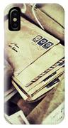 Stacks Of Old Mail IPhone Case
