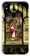 Stain Glass Behold I Stand At The Door And Knock IPhone Case