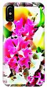 Stain Glass Framed Florals IPhone Case