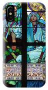 Stained Galss Window In St Vitus IPhone Case