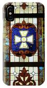 Stained Glass 3 Panel Vertical Composite 01 IPhone Case