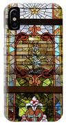 Stained Glass 3 Panel Vertical Composite 02 IPhone Case