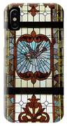 Stained Glass 3 Panel Vertical Composite 03 IPhone Case