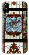 Stained Glass 3 Panel Vertical Composite 05 IPhone Case