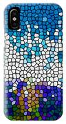 Stained Glass Anemone 1 IPhone Case