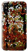 Stained Glass Autumn Colors In The Forest  IPhone Case