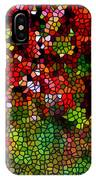 Stained Glass Autumn Leaves Reflecting In Water IPhone Case