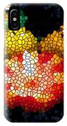 Stained Glass Candle 1 IPhone Case