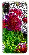 Stained Glass Chrysanthemum Flowers IPhone Case