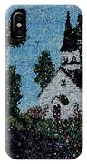 Stained Glass Church Scene IPhone Case