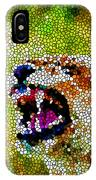 Stained Glass Leopard 3 IPhone Case