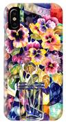 Stained Glass Pansies IPhone X Case