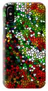 Stained Glass Pine Tree IPhone Case