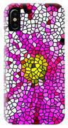 Stained Glass Pink Chrysanthemum Flower IPhone Case
