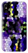Stained Glass Purple Cross IPhone Case