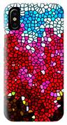 Stained Glass Red Sunflowers IPhone Case