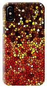 Stained Glass Sunflower Closeup IPhone Case