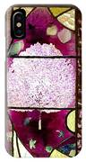 Stained Glass Template Magnolia Glory IPhone Case