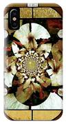 Stained Glass Template Sepia Flora Kalidescope IPhone Case