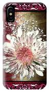 Stained Glass Template White Chrysanthemum IPhone Case
