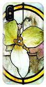 Stained Glass Template Woodlands Flora IPhone Case
