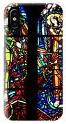 Stained Glass Window At Mont  Le Saint-michel IPhone Case