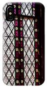 Stained Glass Window In Saint Paul's Episcopal Church-1882 In Tombstone-az IPhone Case
