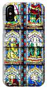 Stained Glass Window Of Santa Maria Del Fiore Church Florence Italy IPhone Case