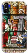 Stained Glass Window Saint Augustine Preaching IPhone Case