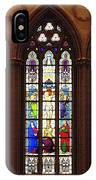 Stained Glass Windows At Saint Josephs Cathedral Buffalo New York IPhone Case