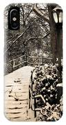 Stairway In Central Park On A Stormy Day IPhone Case