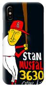 Stan Musial St Louis Cardinals IPhone Case
