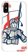 Stand Tall Proud English Happy St George Greeting Card IPhone Case