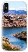 Standing In A Ravine At Lake Mead IPhone Case